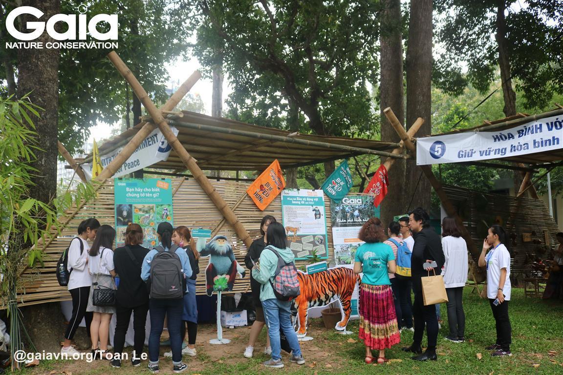 Không gian Hòa bình với thiên nhiên môi trường tại Ngày Văn hóa Hòa Bình.