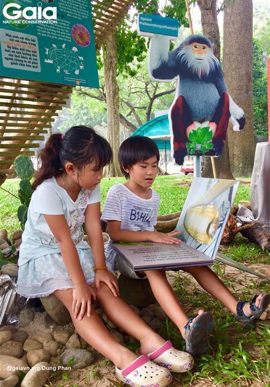 Hào hứng tìm thông tin về động vật hoang dã.