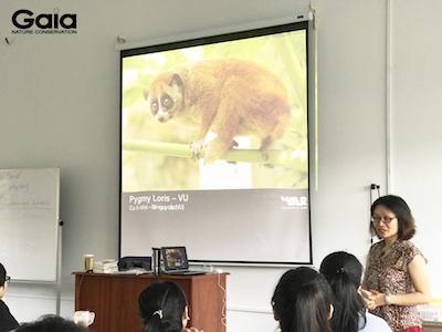 i diện Trung tâm bảo tồn thiên nhiên Gaia – bà Đỗ Thị Thanh Huyền trực tiếp giảng dạy cho sinh viên.