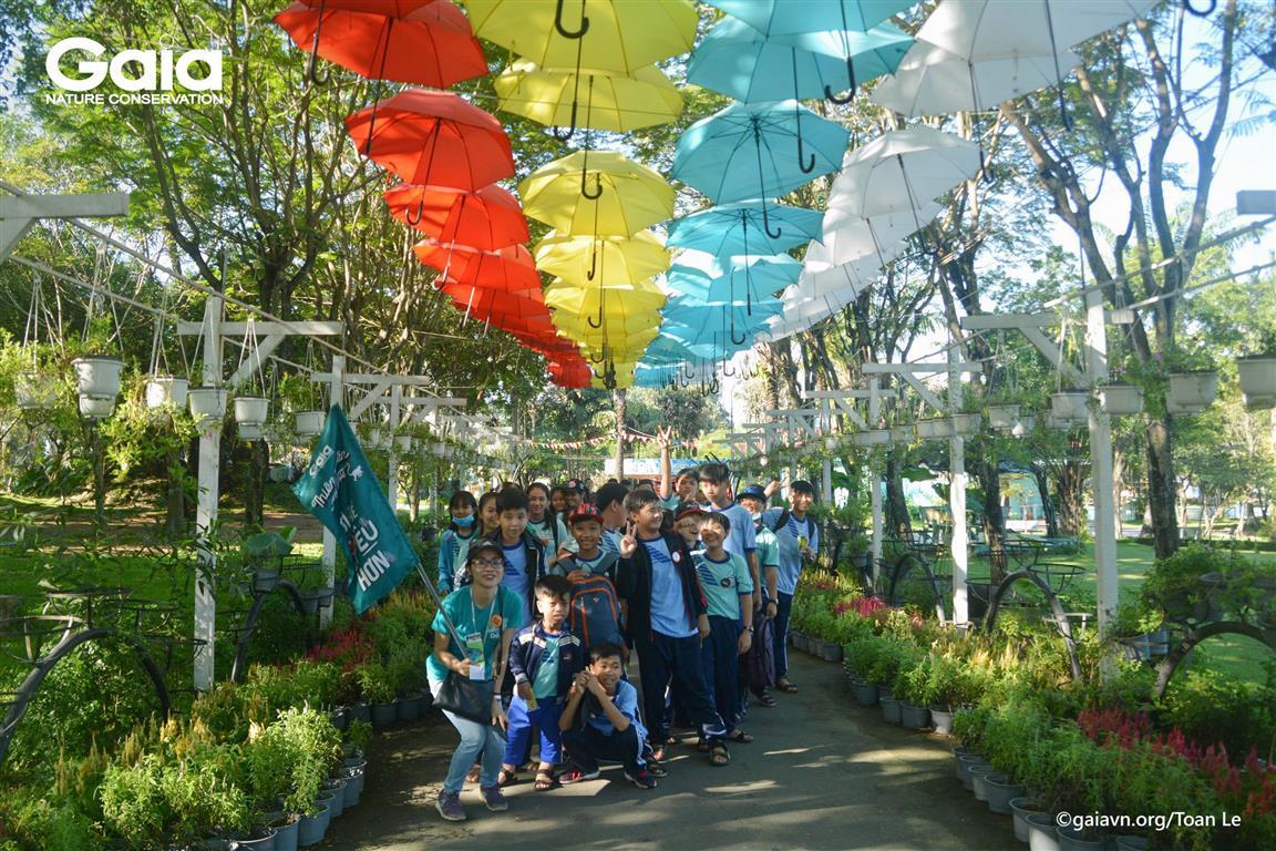 Học sinh hào hứng tham gia hành trình