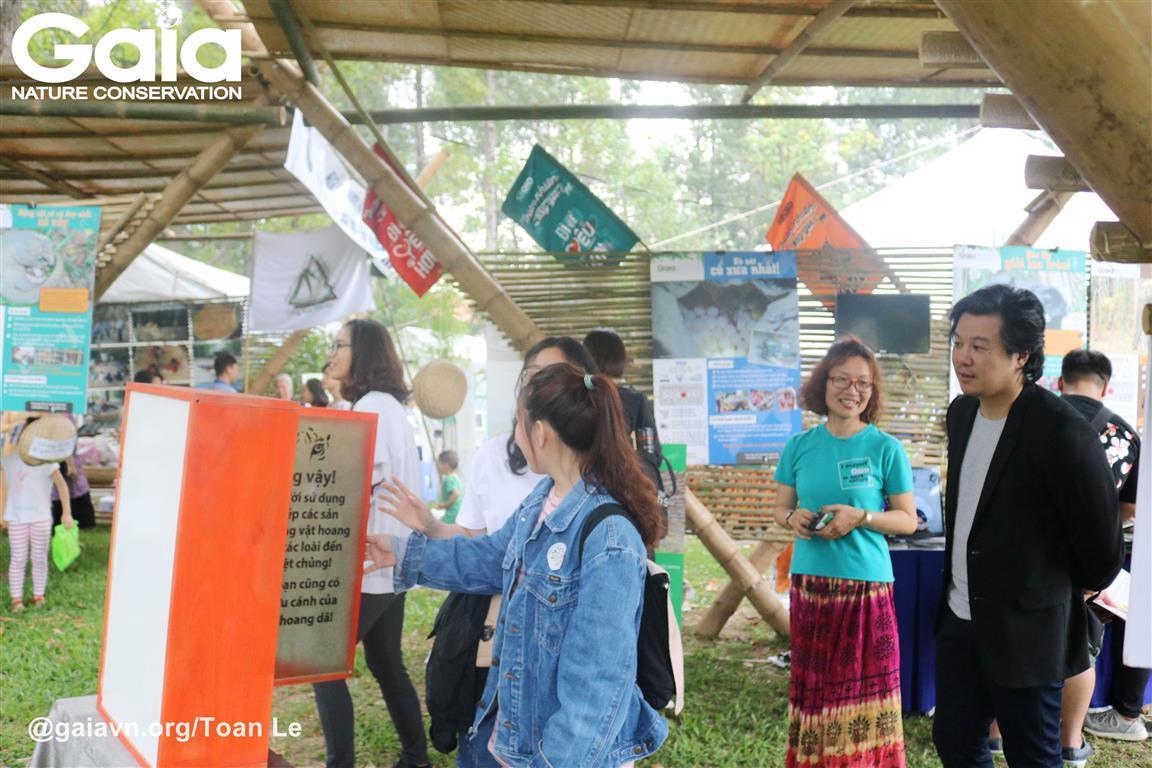 Không gian triễn lãm của Gaia tại Ngày Văn hóa Hòa Bình Tp. Hồ Chí Minh.