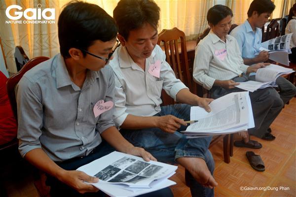Thảo luận nhóm về chương trình Kỳ thú Tràm Chim.