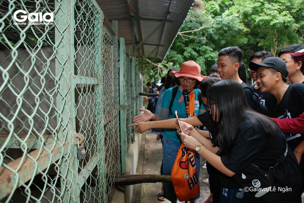 Học sinh tham quan Khu cứu hộ Động vật hoang dã