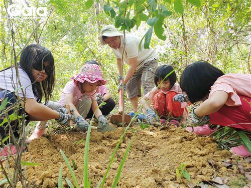 Say mê điều tra đa dạng sinh học tại khu rừng.