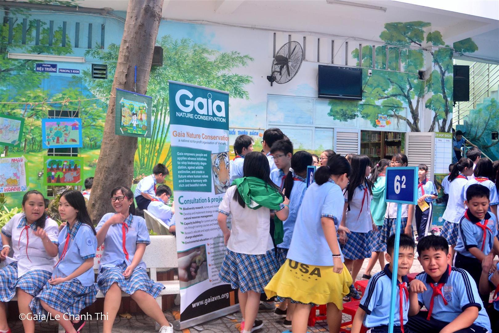 Hoạt động ngoài giờ lên lớp về bảo vệ động vật hoang dã tại trường THCS Ba Đình