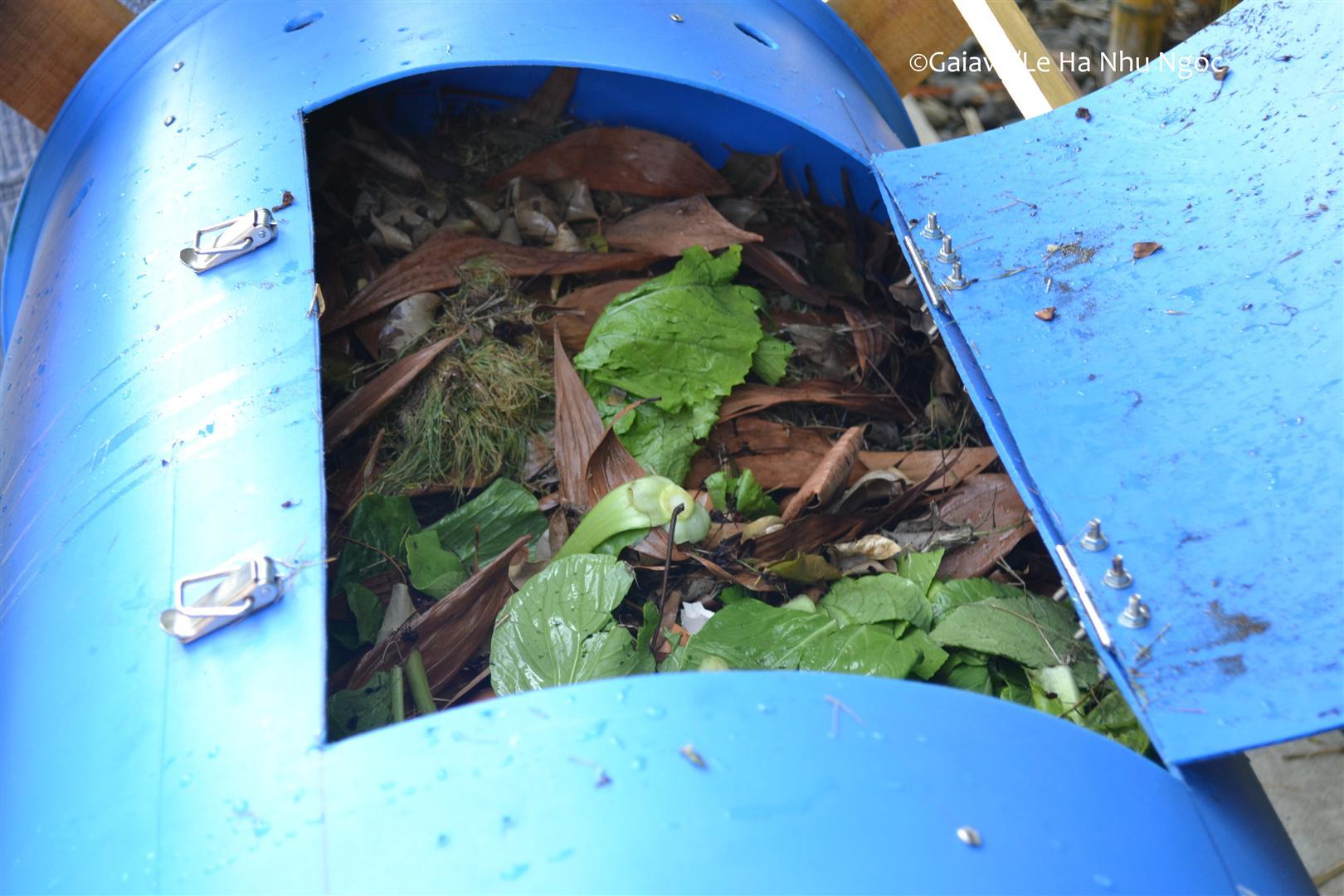 Thùng compost đã hoàn thành