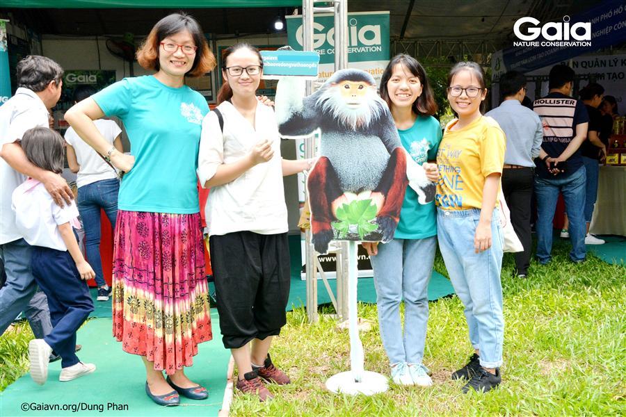 Bạn trẻ tham gia các kỳ trại thiên nheien Gaia hội ngộ tại ngày hội Sống Xanh.