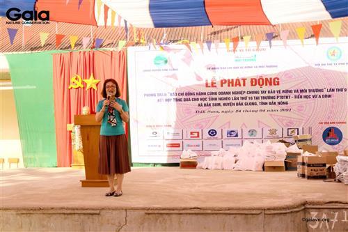 Bà Đỗ Thị Thanh Huyền – Nhà sáng lập&Giám đốc Trung tâm Bảo tồn Thiên nhiên Gaia chia sẻ câu chuyện bảo vệ môi trường.