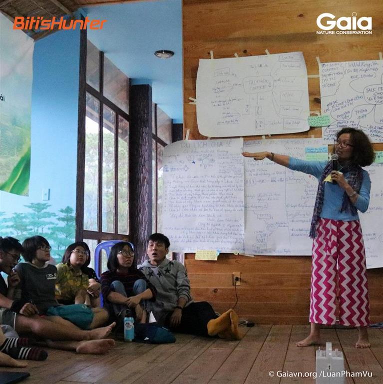 Chia sẻ và phát triển ý tưởng truyền thông, nhằm lan toả thông điệp Du lịch Xanh đến cộng đồng sau chuyến đi.