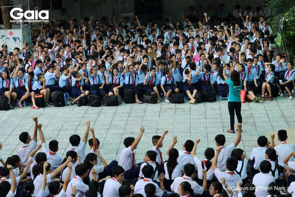 Học sinh hào hứng tại cuộc thi