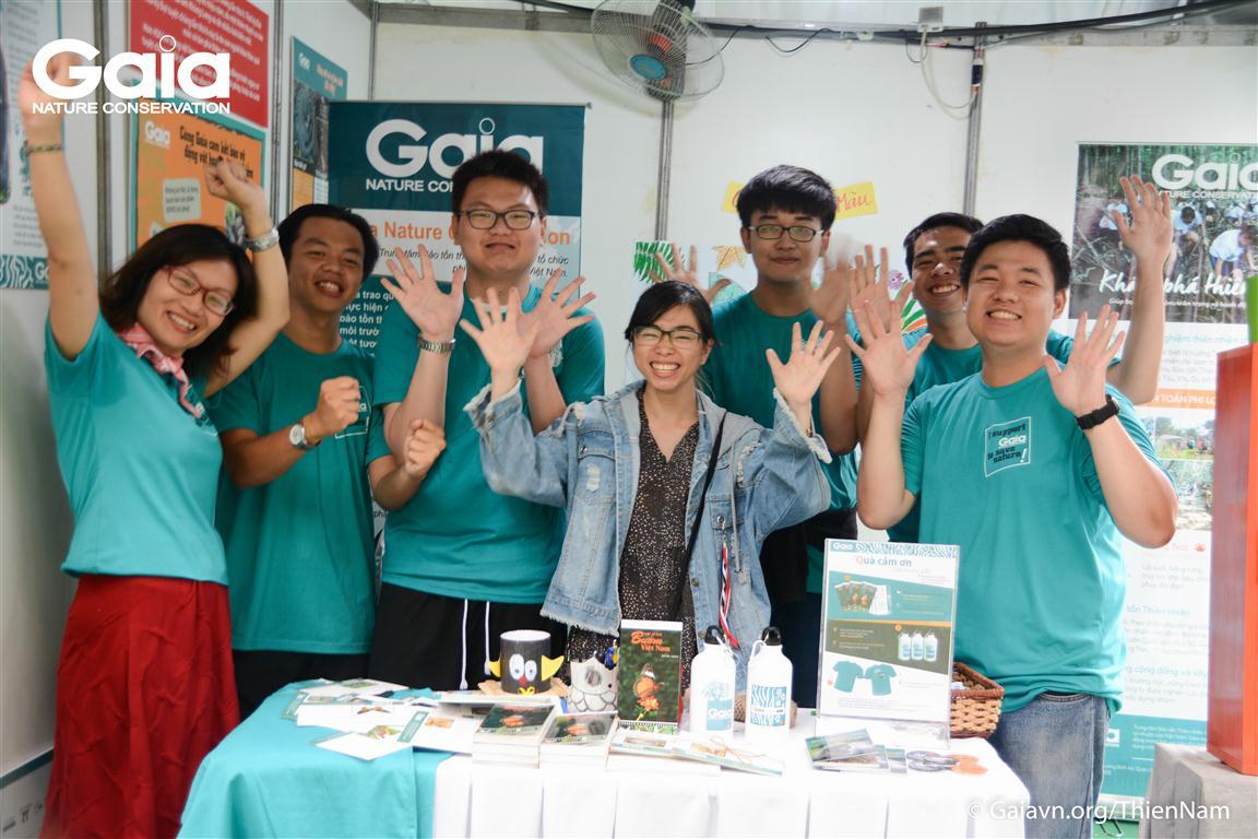 Trại sinh Trại Bảo tồn Thiên nhiên Gaia 2018 hội ngộ tại Ngày hội.