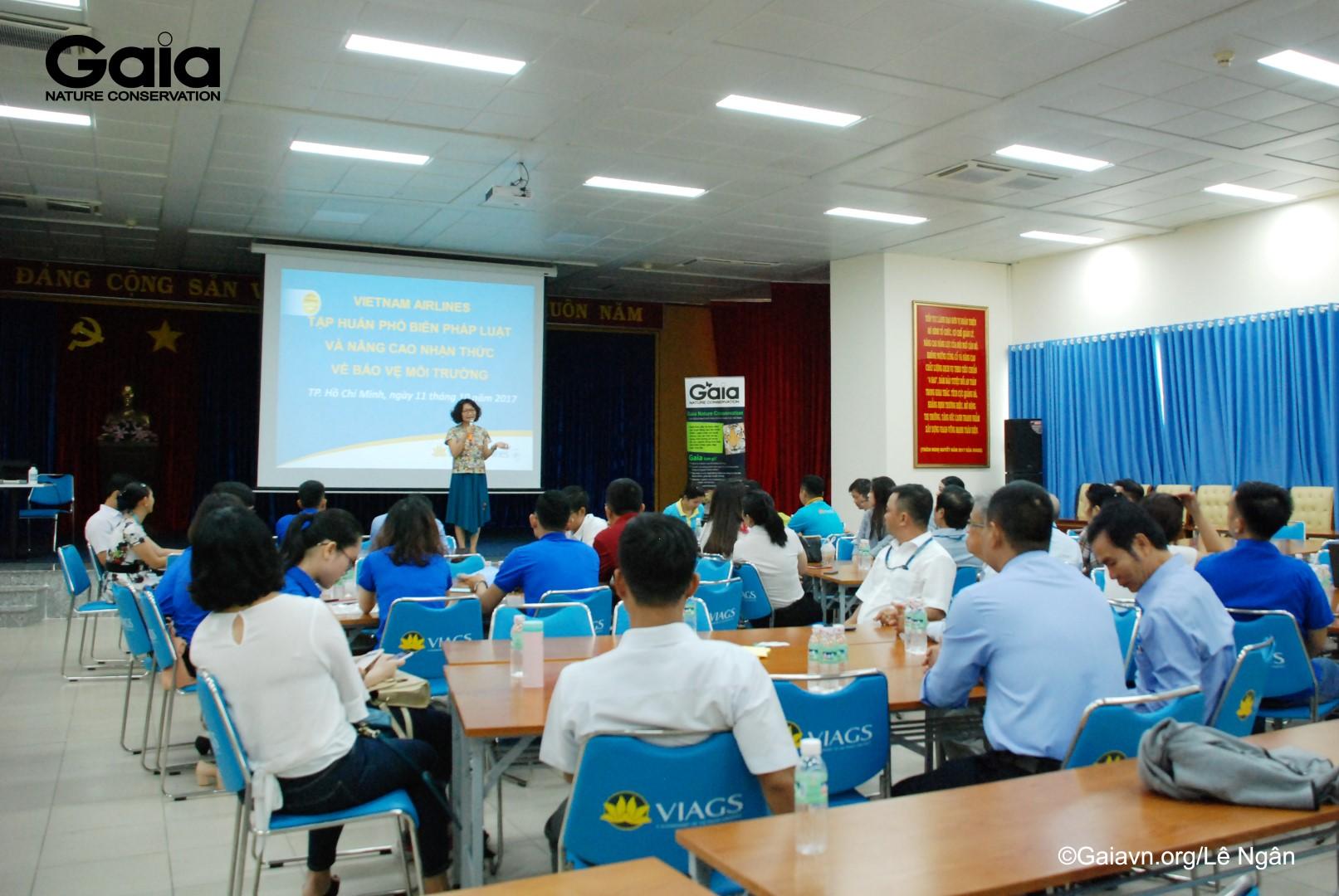 Bà Đỗ Thị Thanh Huyền – Giám đốc Trung tâm Bảo tồn Thiên nhiên Gaia tại Tập huấn.