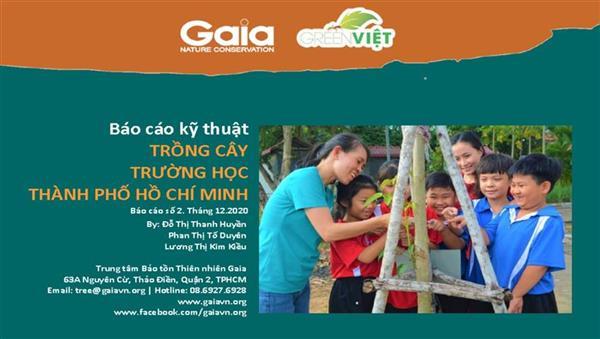 Báo cáo trồng cây trường học Thành phố Hồ Chí Minh