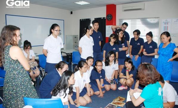 Nói chuyện về buôn bán động vật hoang dã tại Trường Quốc tế Thành phố Hồ Chí Minh